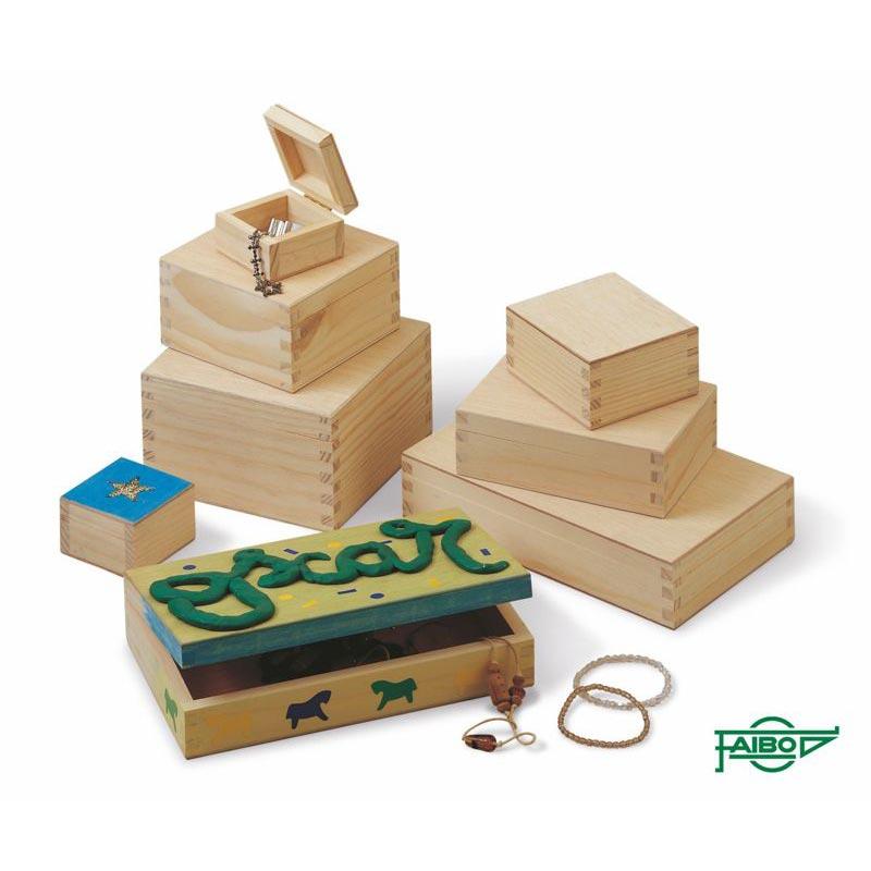 cajas en madera de pino