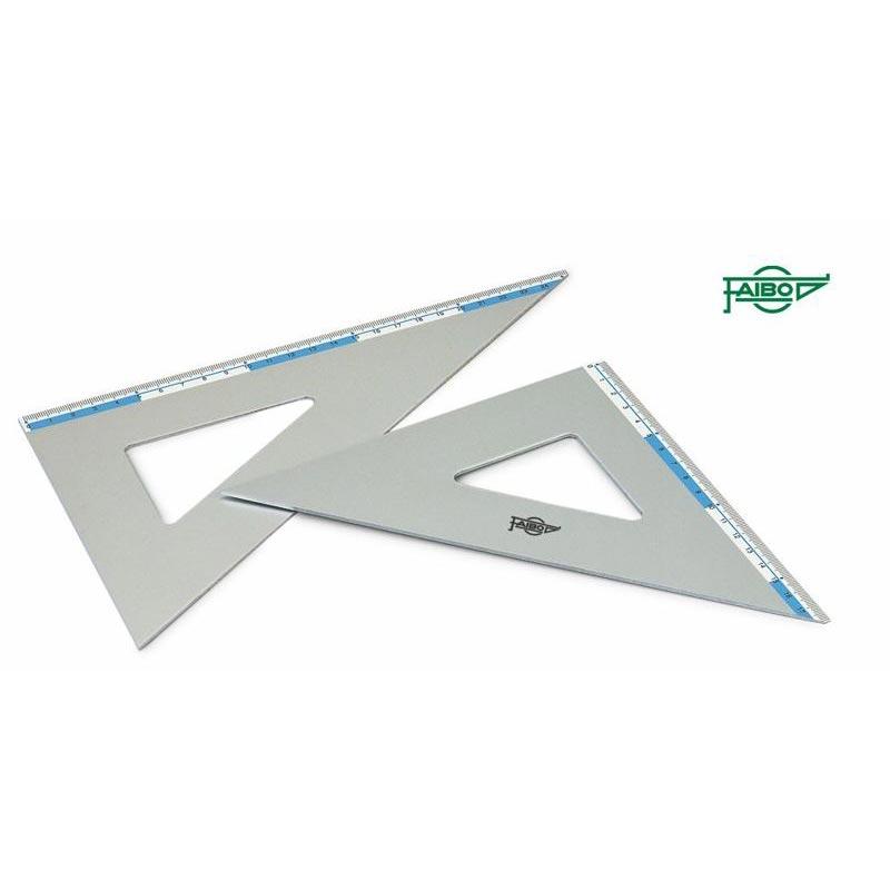 21 cm. Faibo Escuadras 45/º y cartabones 60/º en aluminio de alta